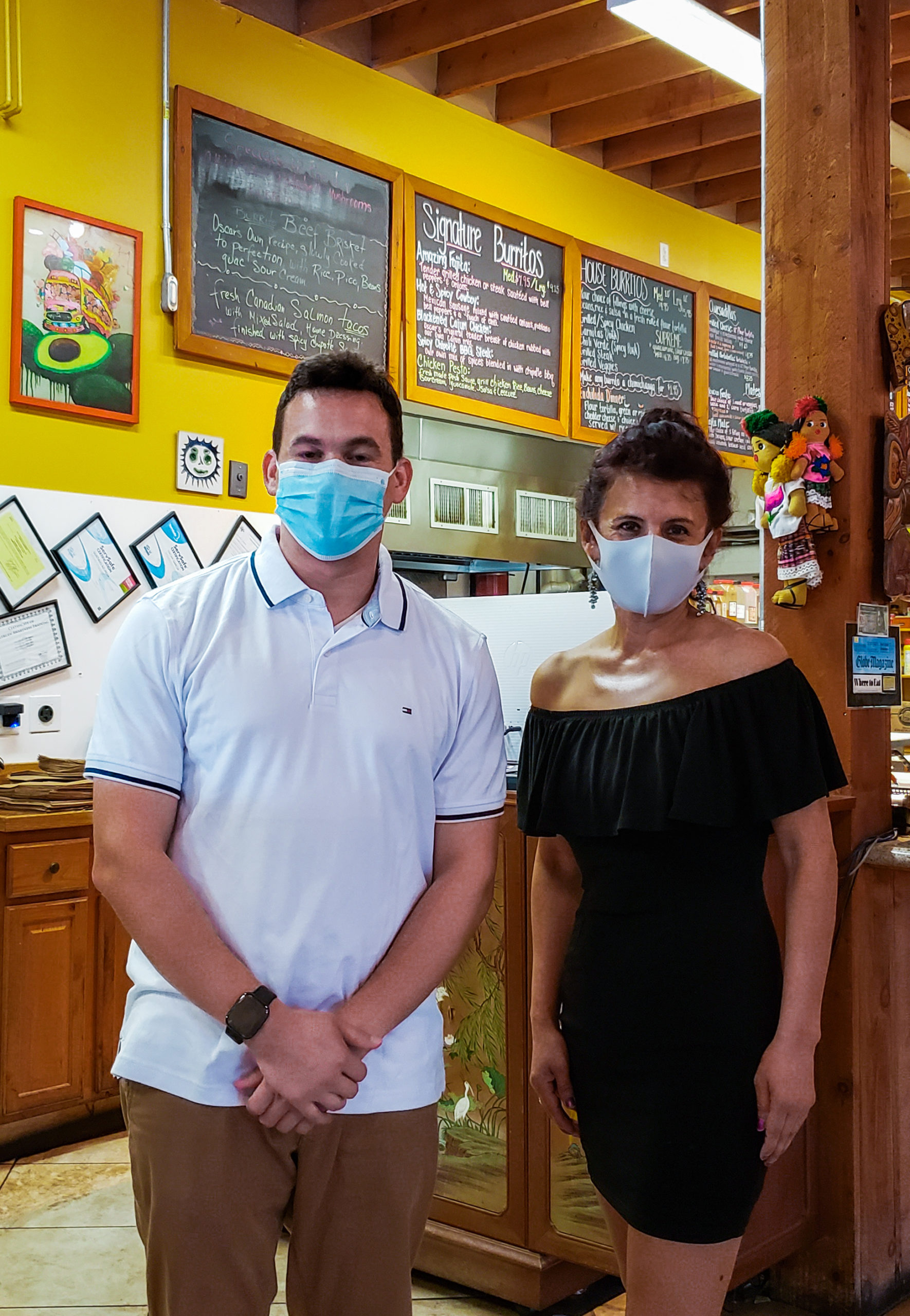 Rep. Sena and Dalia Garcia, co-owner of Oscar's Burritos in Boxborough, MA