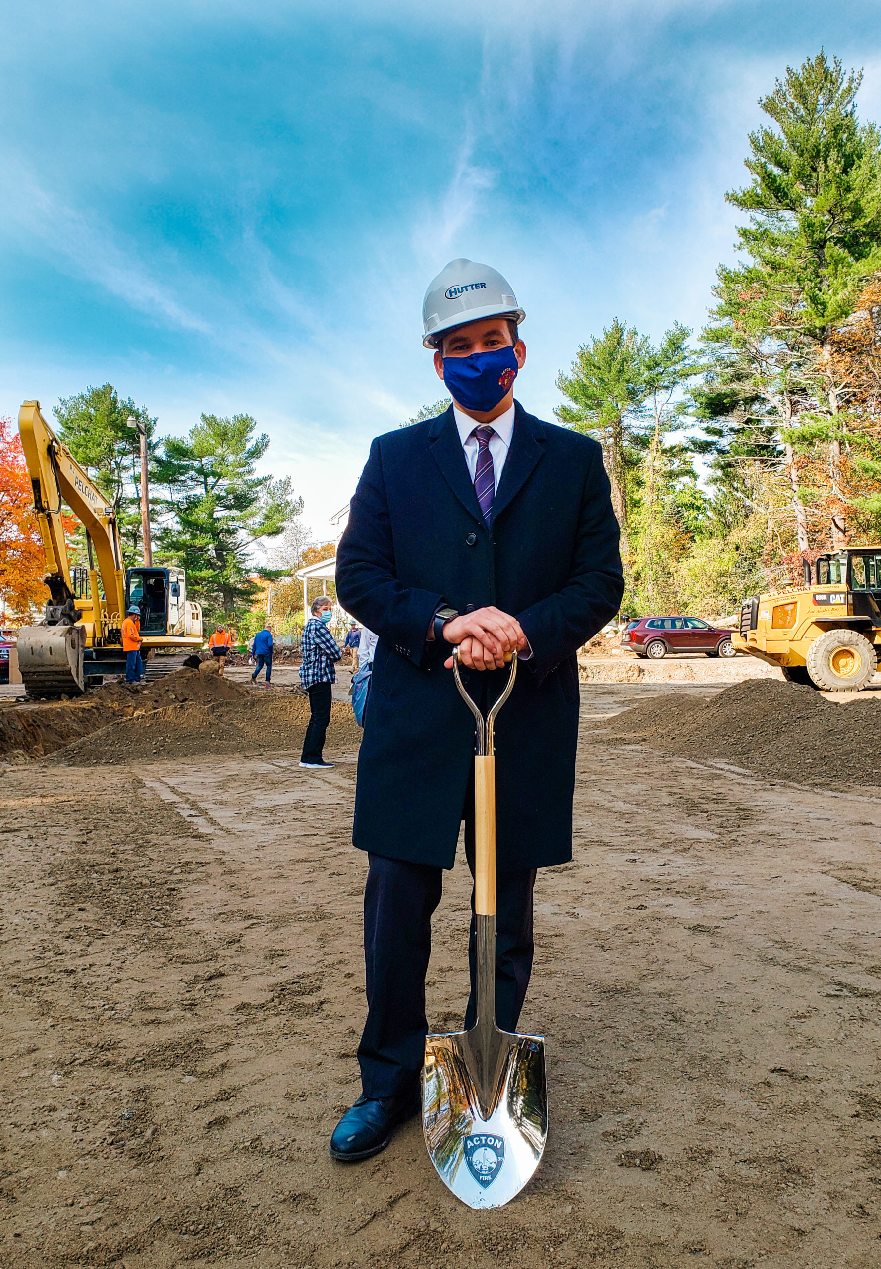 Rep. Sena after breaking ground at the site of the new North Acton Fire Station