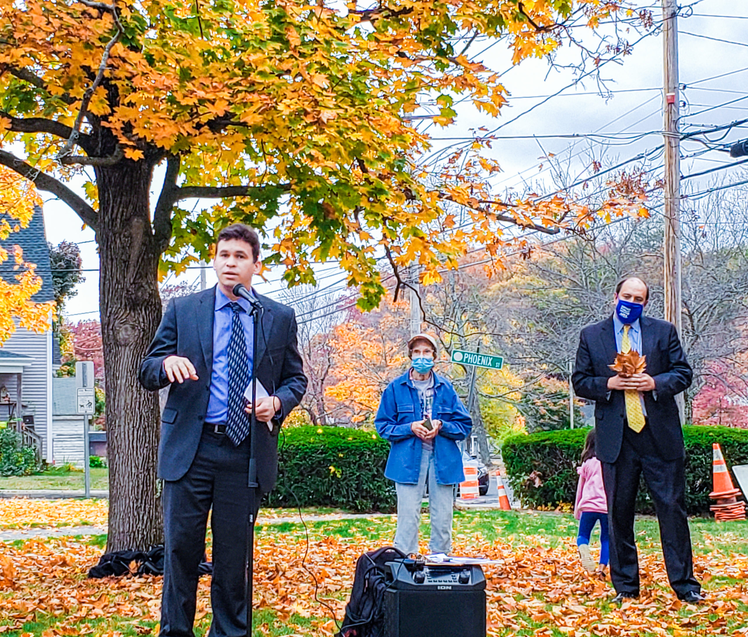 Rep. Sena speaks in Shirley, MA at a protest of mistreatment of people who are incarcerated at Souza-Baranowski Correctional Center