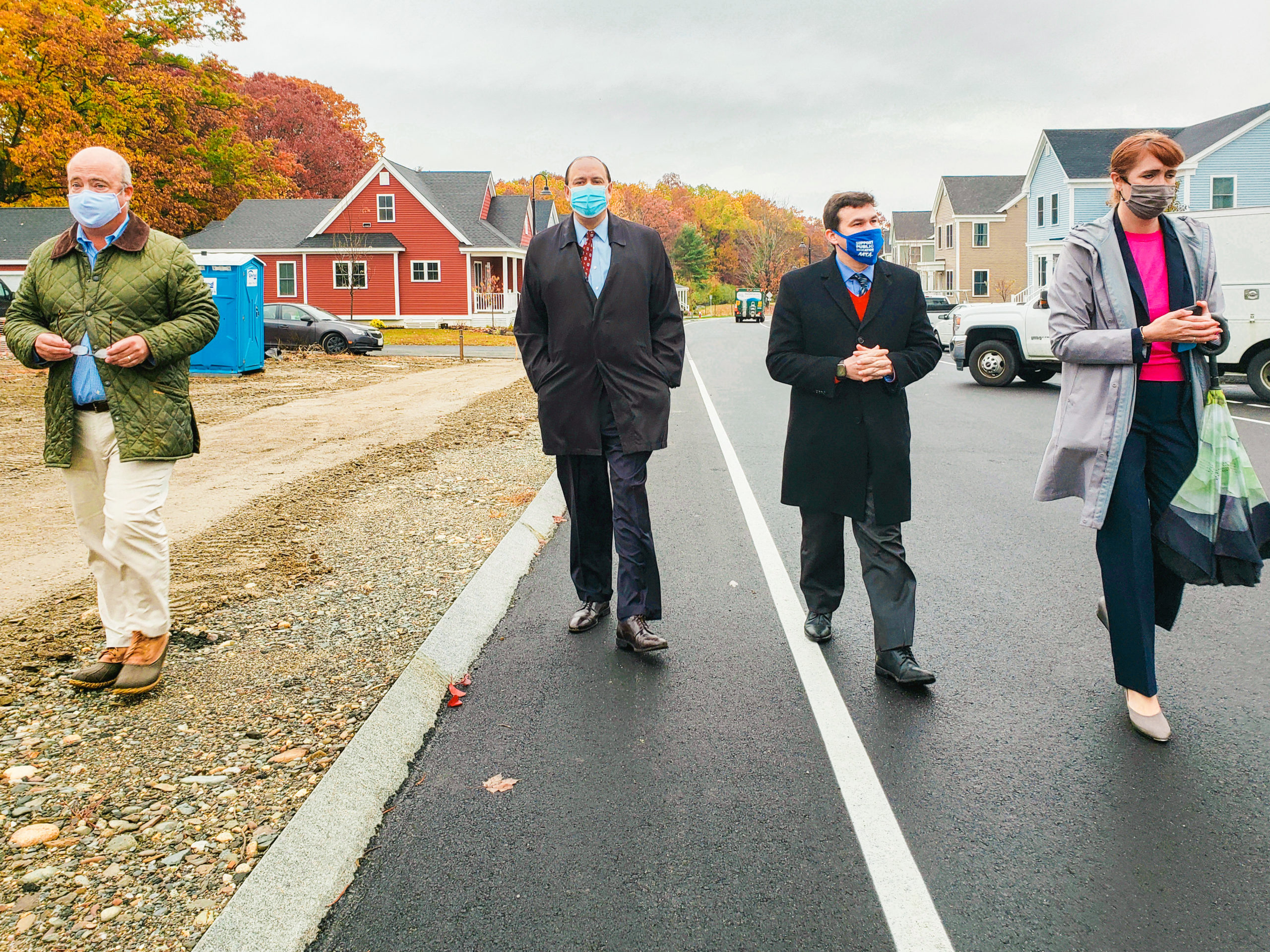 Sen. Eldridge and Rep. Sena tour the Emerson Green Housing Development with MassDevelopment, Devens, MA