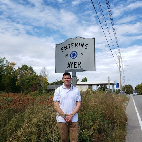 Rep. Sena on his way from Harvard, MA to Ayer, MA during a tour of the 37th Middlesex District