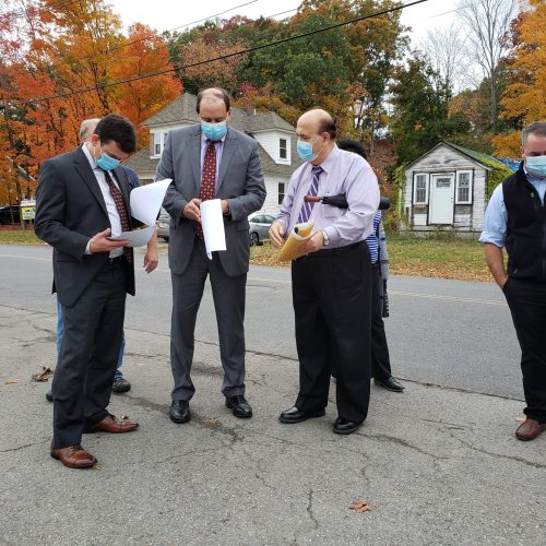 The Shirley Delegation meets with Shirley's Board of Selectmen and other regional organizations near the MBTA Commuter Rail station in Shirley, MA