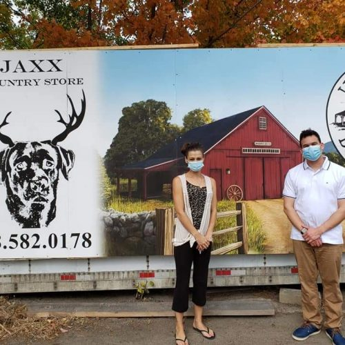 Rep. Sena and Sally of Jaxx Country Store in Lunenburg, MA, during a district tour. Rep. Sena is currently working to get a home rule petition to grant Jaxx Country Variety an additional liquor license passed in the House.